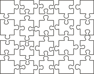 vector transparent puzzle on withe background
