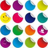 Sada barevných samolepek