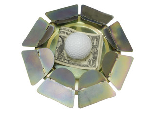 Right on the Money - Golf Ball Putting Practice Device