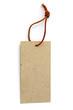 affichette carton et cordonnet cuir