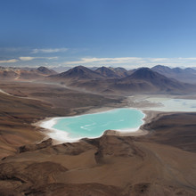 Laguna Verde from the top of Licancabur