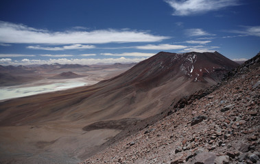 Descending from Licancabur