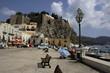 il castello sulla roccia vulcanica(lipari eolie,sicilia,italy)