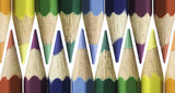 Zigzag pattern with colourd pencils poster