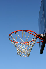 Outdoor basketball hoop