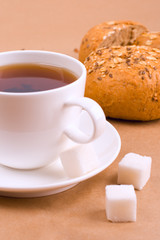 tea, sugar and bread
