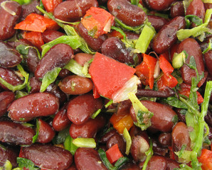 Red bean and tomato healthy salad
