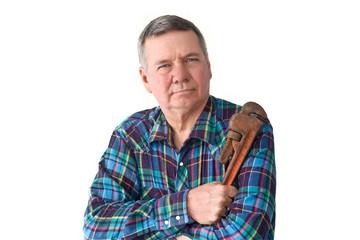 Portrait of Mature DIY plumber