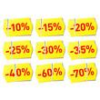 Vector set of discount stickers