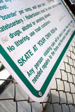 Skate Park Rules poster