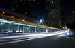 Traffic through Los Angeles at night
