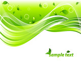 environmental header with leaves, butterflies and  copy space poster