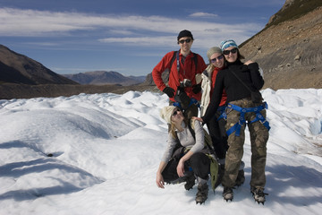on the Cerro-torre glacier