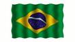 3D-animierte Flaggen im Wind: Brasilien