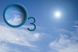 O3 logo na obloze se sluncem