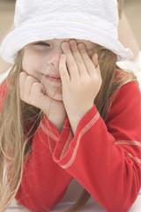 Portrait of a beautiful girl in hat II
