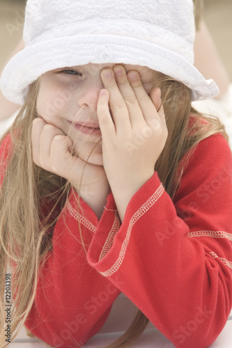 Portrait of a beautiful girl in hat II