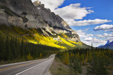 Magnificent American road. The landscape poster