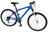 blue sport bicycle