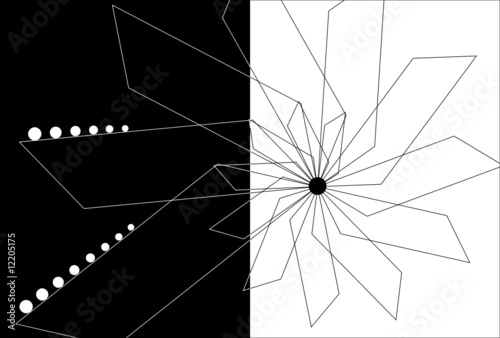 Black and White Abstract Design