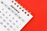 Calendar January poster