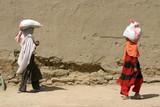 Afghan Children Walk in kabul