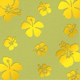 Aluminum Flowers yellow - Perforated plate