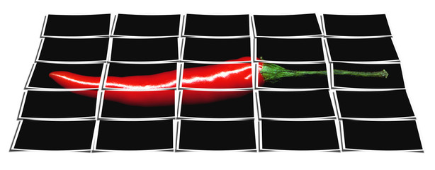 red chili pepper collage