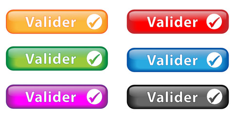 "Boutons ""Valider"" (x6)"
