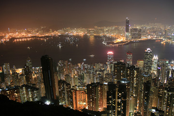 Hongkong Skyline at night