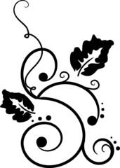 black curlicue