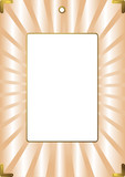 Gentle pink striped framework for a wedding photo (vector) poster