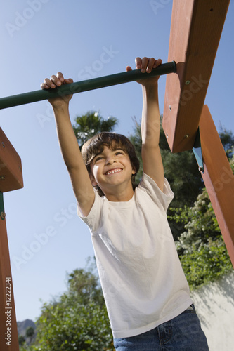 Little Boy on a Jungle Gym