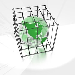 earth in a cage