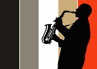 Musico tocando el Saxofón