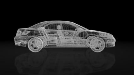 Luxurious car rotating,loop