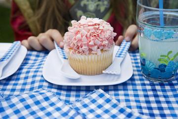 Cupcake on Plate