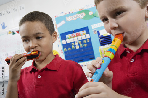 Elementary Students in Music Class