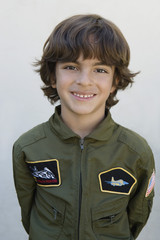Boy Wearing Pilots Jacket