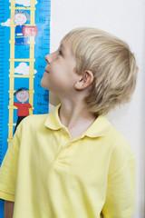 Boy Getting Height Measured