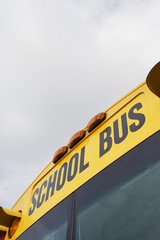 School Bus Written Above Windshield