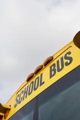 School Bus Written Above Windshield