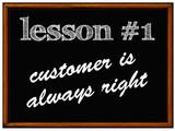 Balckboard - customer is always right poster