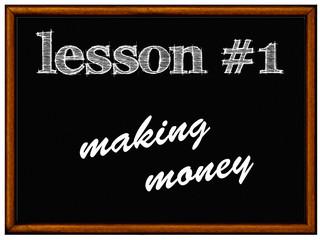 blackboard - making money