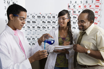 Teacher and Students in Science Class
