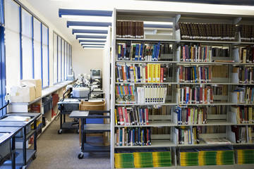 High School Library Stacks