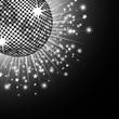 roleta: Silver disco ball and stars