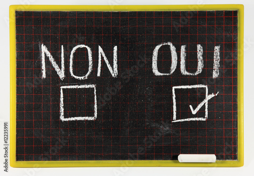 Sondage oui non stock photo and royalty free images on for Oui non minimaliste