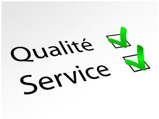Qualité / Service (en perspective avec coches)