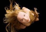 sensual blonde like a mermaid poster